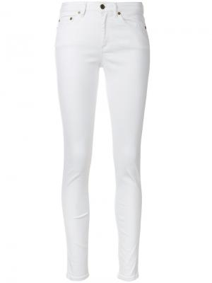 Cropped skinny trousers Woolrich. Цвет: белый