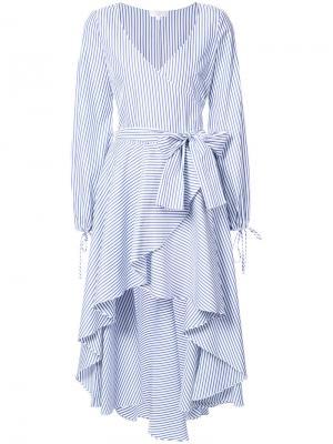 Платье в полоску Lena Caroline Constas. Цвет: синий