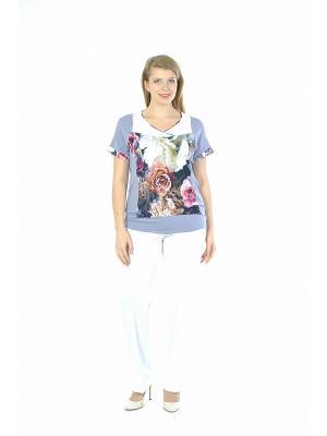 Блузка Forus. Цвет: сиреневый, розовый, белый