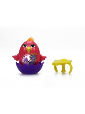Цыпленок с кольцом Poppy, розовый Silverlit. Цвет: розовый