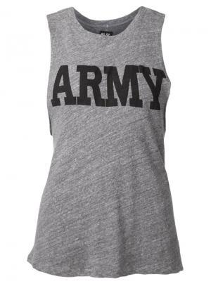 Майка с принтом Army Nlst. Цвет: серый