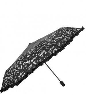 Автоматический зонт с куполом черного цвета FLIORAJ. Цвет: черный