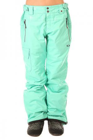 Штаны сноубордические женские  Village Pant Biscay Green Oakley. Цвет: голубой