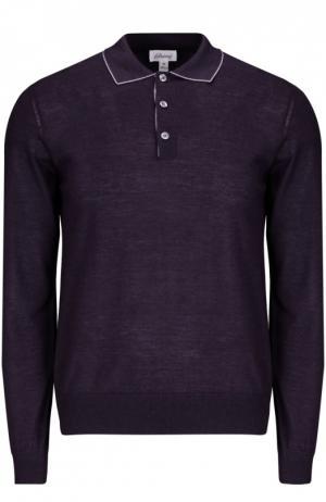 Вязаное поло Brioni. Цвет: темно-фиолетовый