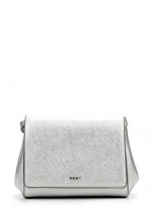 Сумка DKNY. Цвет: серебряный
