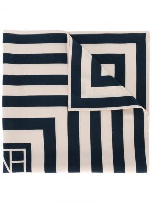 Квадратный платок с геометрическим рисунком Toteme. Цвет: телесный