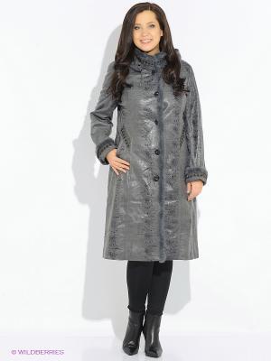 Пальто Леди Шарм. Цвет: серый