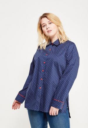 Рубашка Leshar. Цвет: синий