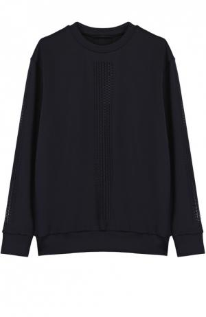 Пуловер прямого кроя с перфорацией Ultracor. Цвет: черный