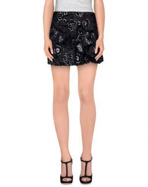 Мини-юбка ANTONELLO SERIO. Цвет: черный