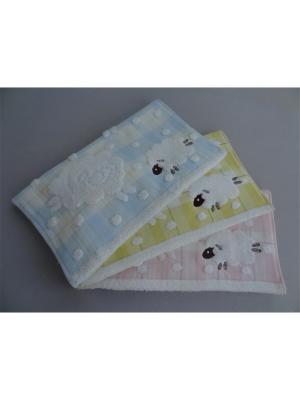 Полотенца банные A and C Collection. Цвет: бежевый, белый, бледно-розовый, голубой, желтый
