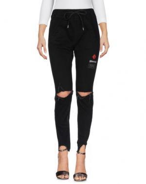 Джинсовые брюки HAPPINESS. Цвет: черный