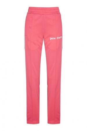 Розовые брюки с лампасами Palm Angels. Цвет: розовый