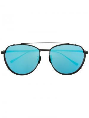 Солнцезащитные очки Amanda Maska. Цвет: чёрный