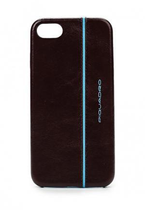 Чехол для iPhone Piquadro. Цвет: коричневый