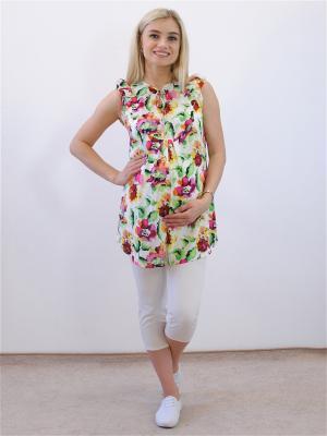 Блузка Адель. Цвет: зеленый, молочный, фиолетовый