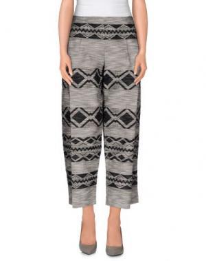 Повседневные брюки E_GO' SONIA DE NISCO. Цвет: свинцово-серый