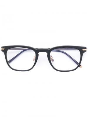 Square shaped glasses Masunaga. Цвет: чёрный