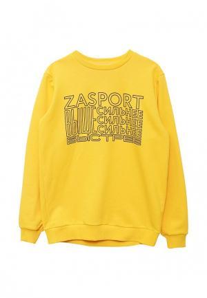 Свитшот Zasport. Цвет: желтый