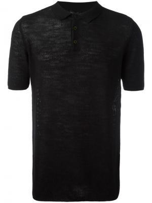 Классическая рубашка-поло Roberto Collina. Цвет: чёрный
