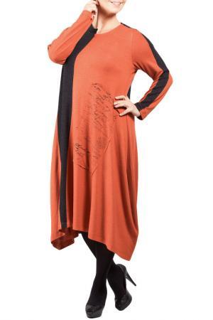 Платье Zedd Plus. Цвет: black and orange