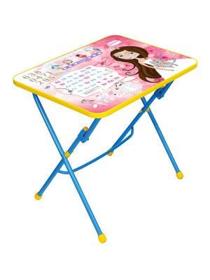 Стол (складной), детский, с рисунком Nika. Цвет: синий, розовый