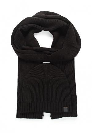 Комплект шапка и шарф Boss Orange. Цвет: черный