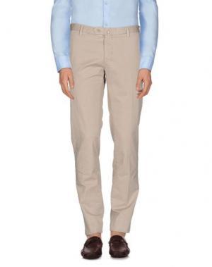 Повседневные брюки LUIGI BIANCHI Mantova. Цвет: бежевый