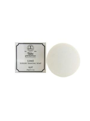 Мыло для бритья Luxury Lime Shaving Soap Refill100гр Taylor of Old Bond Street. Цвет: молочный