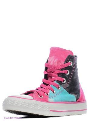 Кеды Converse. Цвет: лиловый, бледно-розовый