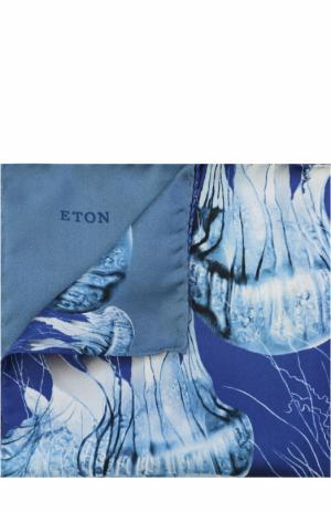 Шелковый платок с принтом Eton. Цвет: синий