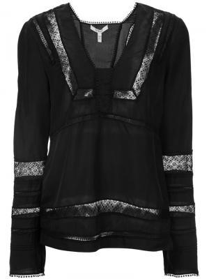 Блузка с кружевными панелями Derek Lam 10 Crosby. Цвет: чёрный