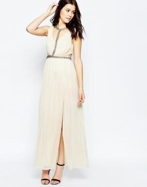 Key Collections Платье макси Ashley Roberts специально для Cleopatra. Цвет: золотой