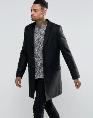 Troy Пальто с добавлением шерсти. Цвет: черный