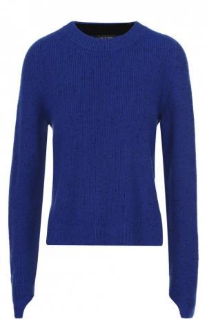 Кашемировый пуловер с круглым вырезом и удлиненным рукавом Rag&Bone. Цвет: синий