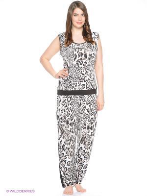 Комплект одежды Lina. Цвет: коричневый, черный