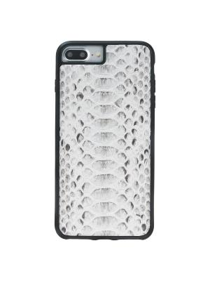 Экзотический чехол из кожи питона iPhone 7 Plus Bouletta. Цвет: серый