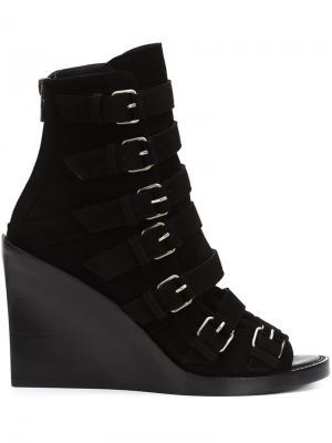 Ботинки с ремешками Ann Demeulemeester. Цвет: чёрный