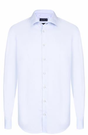 Хлопковая сорочка с воротником кент Jacques Britt. Цвет: голубой