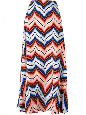 Длинная юбка с узором шеврон Kenzo. Цвет: многоцветный