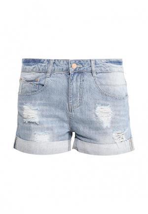 Шорты джинсовые Sela. Цвет: голубой