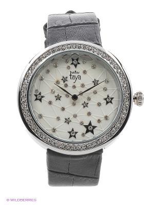Часы Taya. Цвет: серебристый, черный