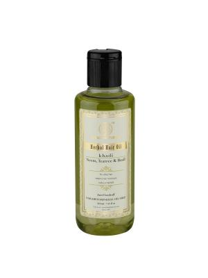 Масло Ним, Чайное дерево и Базилик против перхоти - без парабенов минерального масла Khadi Natural. Цвет: светло-зеленый