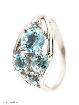 Кольцо Lovely Jewelry. Цвет: голубой, серебристый