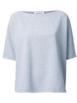 Свободная футболка Enföld. Цвет: серый