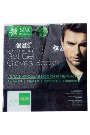 Гелевые носки и перчатки SPA BELLE. Цвет: серый