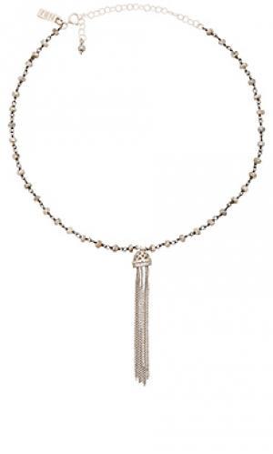 Чокер burlesque Natalie B Jewelry. Цвет: металлический серебряный