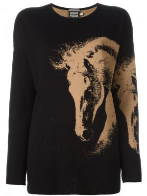 Вязаный свитер Fausto Puglisi. Цвет: чёрный