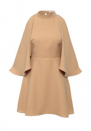 Платье Finders Keepers. Цвет: бежевый