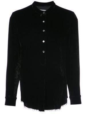 Рубашка с воротником-стойкой Raquel Allegra. Цвет: чёрный